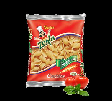 Conchitas con champiñones en salsa de tomate